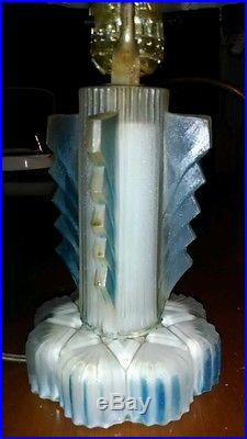 Vintage Art Deco Frosted Glass Lamp, Very Retro, Mid Century Glass Shade, Cool