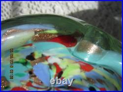 Vintage Beautiful Murano Tutti Frutti AVeM Mid-Century Art Glass Ashtray