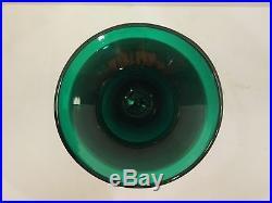 Vintage Blenko Art Glass Forest Green Greenbrier Large Vase Mid Century Modern