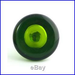 Vintage Blenko Decanter Green Glass Model # 6924 with Stopper Mid Century 1960s