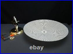 Vintage Candy Stripped Atomic Mid Century Flush Mount Ceiling Light Fixture Lamp