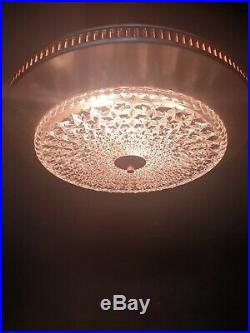 Vintage Ceiling Lamp Chandelier 1960's Glass Inox Midcentury