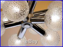 Vintage Chandelier Hanging Lamp Sputnik Atomic Starburst Glass Old Mid-Century