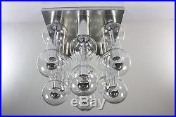 Vintage Doria Glass Flush Mount Gaetano Sciolari Modern Mid Century Design