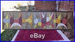 Vintage Evelyn Ackerman mid century glass tile mosaic Autumn Abstract, 1958