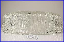Vintage Flush Mount Glass Chandelier Ceiling Light 12'' Kalmar Mid Century 70`s