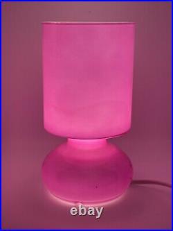 Vintage Fuchsia Pink Mushroom Lamp Retro Mid Century Ikea Lykta Discontinued