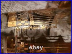 Vintage Georges Briard Set Of 8 MCM Mid Century Modern Glasses Rocks Double Old