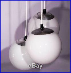 Vintage Globe Chandelier Italian Design Cascade Glass Sputnik Lamp Mid Century