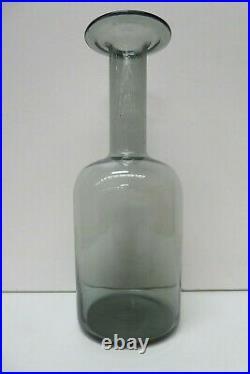 Vintage Holmegaard Gulvase MID Century Scandinavian Smokey Art Glass Otto Brauer