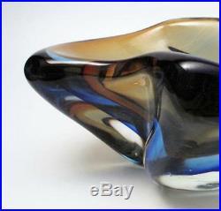 Vintage Italian Murano Sommerso Art Glass Bowl MID Century Modern Eames Era