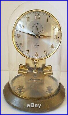Vintage JUNGHANS ATO German Electromagnetic Brass & Glass Dome Mid Century Clock
