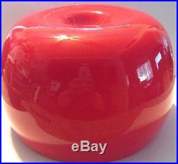 Vintage Kaj Franck Nuutajarvi Studio Red Art Glass Serving Bowl Mid Century MCM
