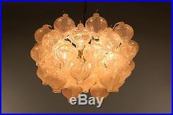 Vintage Kalmar Tulipan Glass Chandelier Mid Century Modern Lamp 50's 60's
