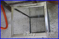 Vintage Large Mid Century Fish Aquarium/Terrarium Glass Metal Chrome Slate Base