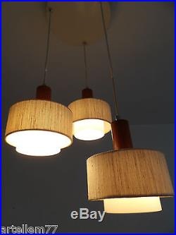 Vintage Luxus Swedish Suspension Ceiling Lamp Glass Mid-Century 50s 60s