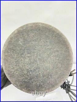 Vintage MID Century MCM Chrome Majestic Table Lamp White Chrome Plastic Shade