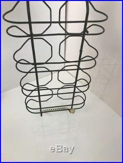 Vintage MID Century Spaghetti Glass Drinking Glasses Set Of 9 Retro Barware MCM