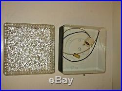 Vintage Mid Century Glass Bubble Ceiling Light Fixture Recessed Flush Mount Deco