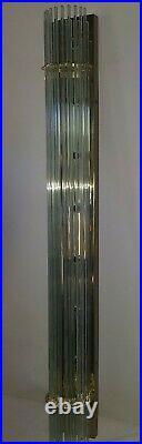 Vintage Mid Century Glass Rod Brass Lamp Light Sciolari Lightolier Style MCM