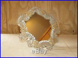 Vintage Mid Century Italian Venitian Glass Mirror