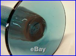Vintage Mid Century Modern Blenko Husted 1962 Crackle Art Glass Decanter 628-S