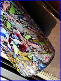 Vintage Mid Century Modern Dino Martens AVEM Zanfirico Murano Glass Vase
