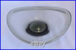 Vintage Mid Century Modern Holmegaard Smoked Glass Bowl Selandia Dish Per Lutken