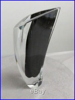Vintage Mid Century Modern Kosta Boda Vase Signed by Govan Warff 11.5H