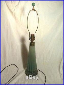 Vintage Mid Century Modern Rare Early Barovier Seguso Ribbed Murano Glass Lamp