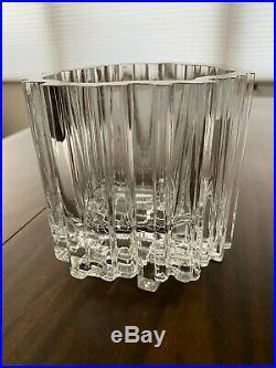 Vintage Mid Century Modern Tapio Wirkkala Arcadia Ice Glass Vase