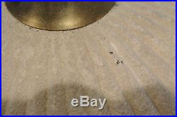 Vintage Mid Century Modern Teak & Textured Glass Table Lamp A