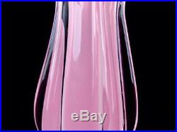 Vintage Mid Century Murano Sommerso Italian Art Glass Alabastro Vase A. Seguso