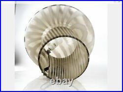 Vintage Mid Century Peill & Putzler Handblown Glass Mushroom Lamp 19 X 15