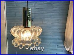 Vintage Mid Century Pendant Space Age Lamp Ceiling Atomic Design Light Glass