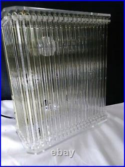 Vintage Mid Century Sciolari Glass Rod Light Wall Sconce Lucite