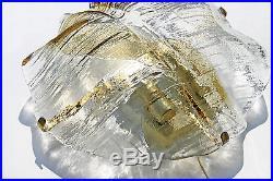 Vintage PAIR Wall Sconces Lights Lamps KALMAR Ice Glass 60s Mid-Century Modern
