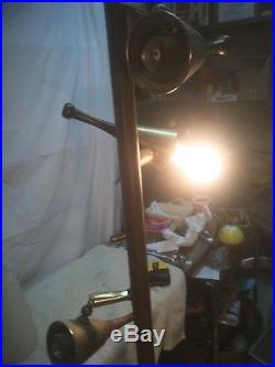 Vintage Pole Floor Lamp Glass Shade MID Century Dainish Modern Parts Lamp
