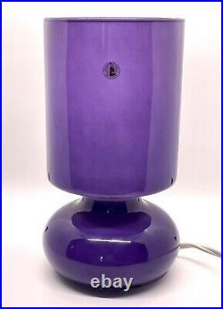 Vintage Purple Mushroom Lamp Retro Mid Century Ikea Lykta Discontinued