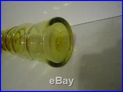 Vintage Rare Blenko Mid Century Modern Lemon Yellow 13 3/4 Tall Myers #6733
