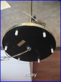 Vintage Retro Mid-Century Modern Casella Floor Lamp Brass Glass Tubes