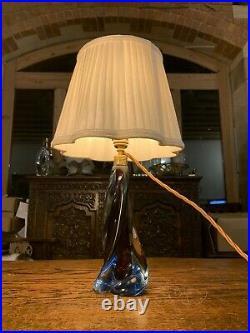 Vintage Seguso Murano Vetri Darte Hand Blown Glass Table Lamp, Mid Century
