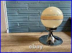 Vintage Space Age Glass Table Lamp Mid Century Design Bedside Light Saturn