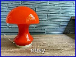 Vintage Space Age Opaline Glass Table Lamp Mid Century Atomic Design Mushroom