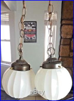 Globe Pendant Light Swag Lamp White