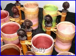 Vintage Tiki 8 Mugs Hawaiian Polynesian MID Century 1950's Glasses