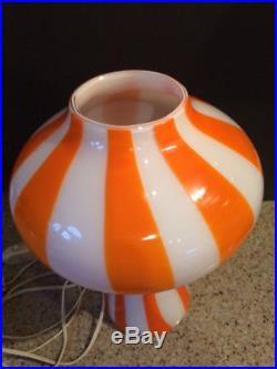 Vintage Vignelli Lamp MID Century Table Mushroom Lamp Glass Made In Italy