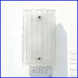 Vintage Wall Light Lamp Sconce Bath Vanity 70s Glass Original German Mid Century