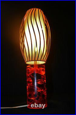 Vintage original mid-century Italian 1960s Shatterline table lamp by Prova Italy