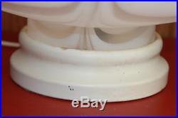 Vtg1960-1970'sMurano satin Glass Lamp Mid Century Danish modern mushroom swirl